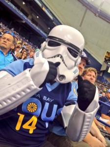 Brett Supporting the Rays on Star Wars Day!